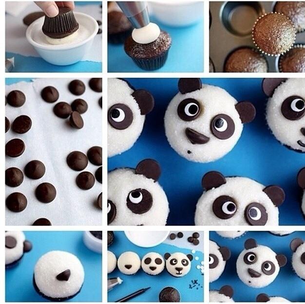 Panda Bear Cupcakes☺️🐼