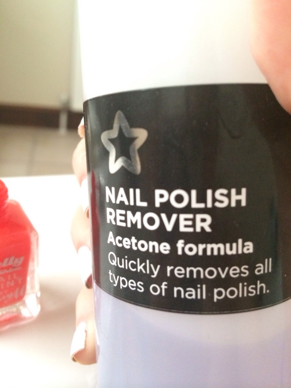 Just pour a small amount of nail varnish remover Into your thick nail varnish