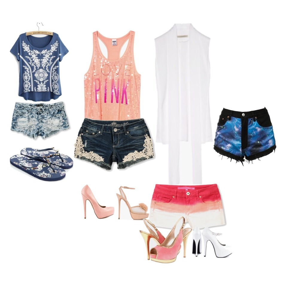 Cute selection of tops and shorts