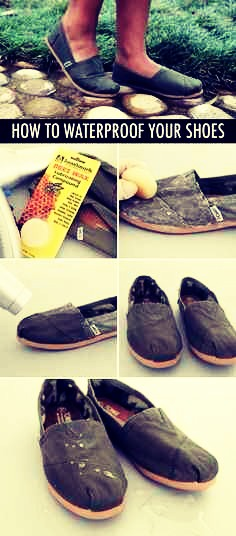5. Use beeswax to create a waterproof shoe👞✨