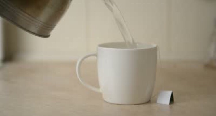 Pour the boiling water into a mug or a glass...