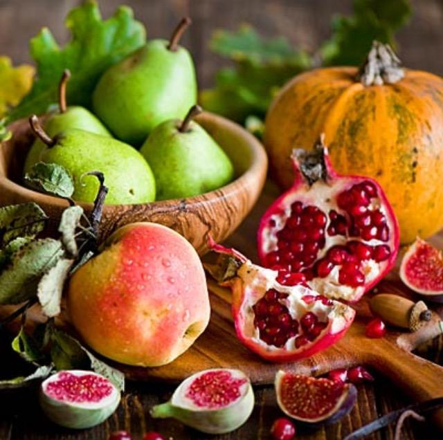 3. Make something with seasonal produce! Fall brings a bounty of fresh produce: apples, squash, pomegranates, and so much more. Excellent seasonal recipes are available online at Martha Stewart or Food Network.