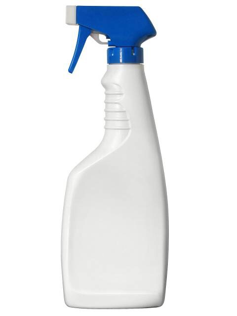 Pour all ingredients into a spray bottle and spray weeds.