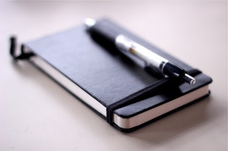 A pen and a small notebook in case you need to write something down.