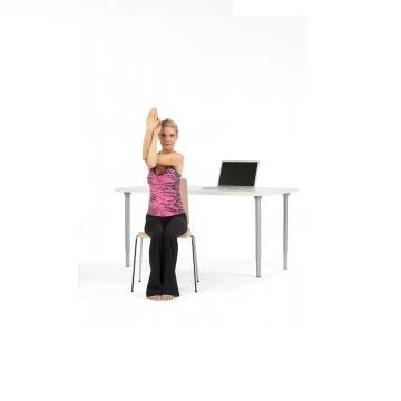 11 yoga poses you can do from your desk  musely