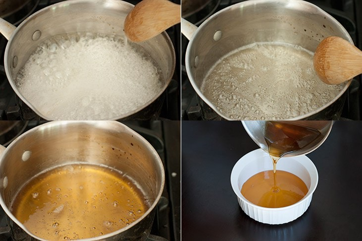 DIRECTIONS |  4️⃣ Cook until wax is a medium golden brown (takes 5-10 minutes) 5️⃣Remove from heat & allow it to sit for 5mins (6️⃣ Meanwhile take a spoonful of wax & put it in the fridge, wait until it has cooled & check consistency. NOTE: if it's still too runny return to heat for couple mins.