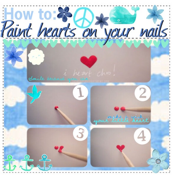How to paint an easy heart on your nails.