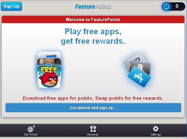 Feature points is a safe, free app that awards you points for trying other free apps. As you earn points you can redeem them for cool stuff and even cash!!