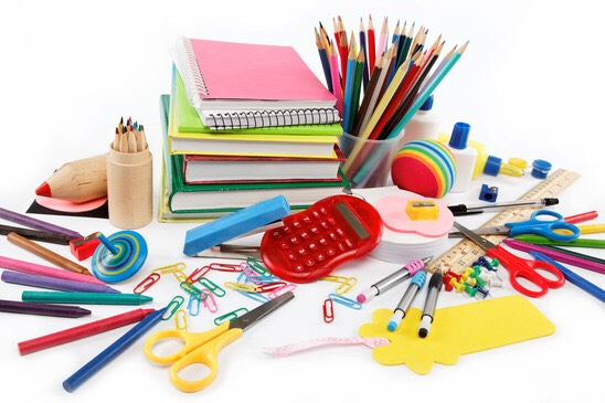First I'm starting with some basic school supplies. The school supplies I'm listing are what I use for high school.
