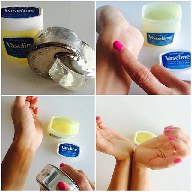 use Vaseline as a base to ur perfume
