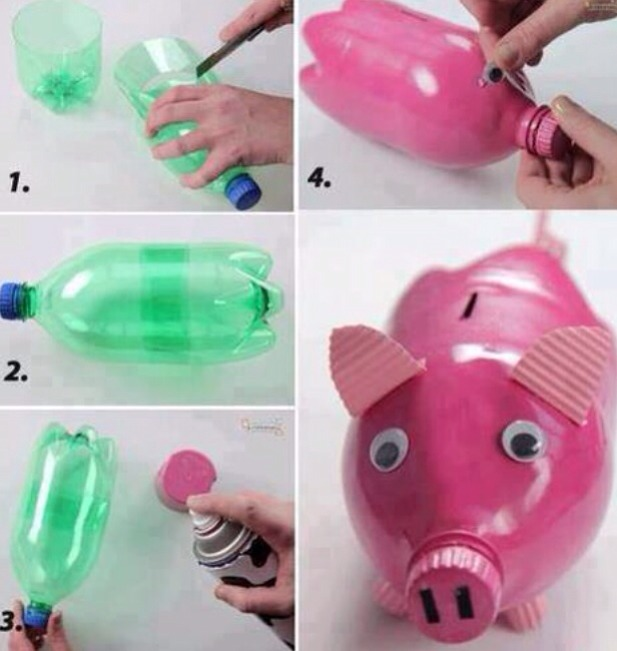Rainy day?... An easy but fun way too pass time with the kids. Make cute little piggy banks, by following these few simple steps.