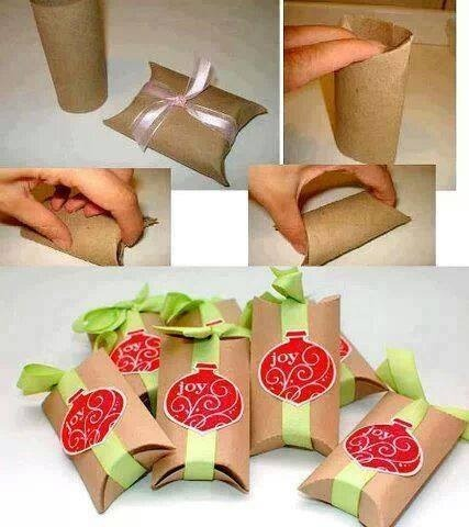 Something simple to do with a toilet paper roll.. Just fold the ends and decor with a ribbon or anything you like :) 🎀