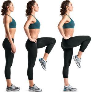 40 high knees (each leg)