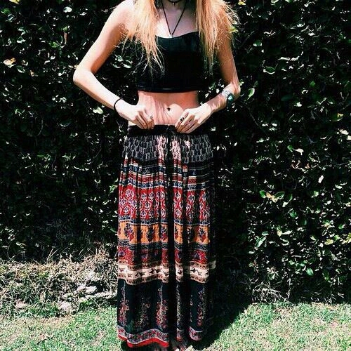 Long Maxi skirts with crop tops
