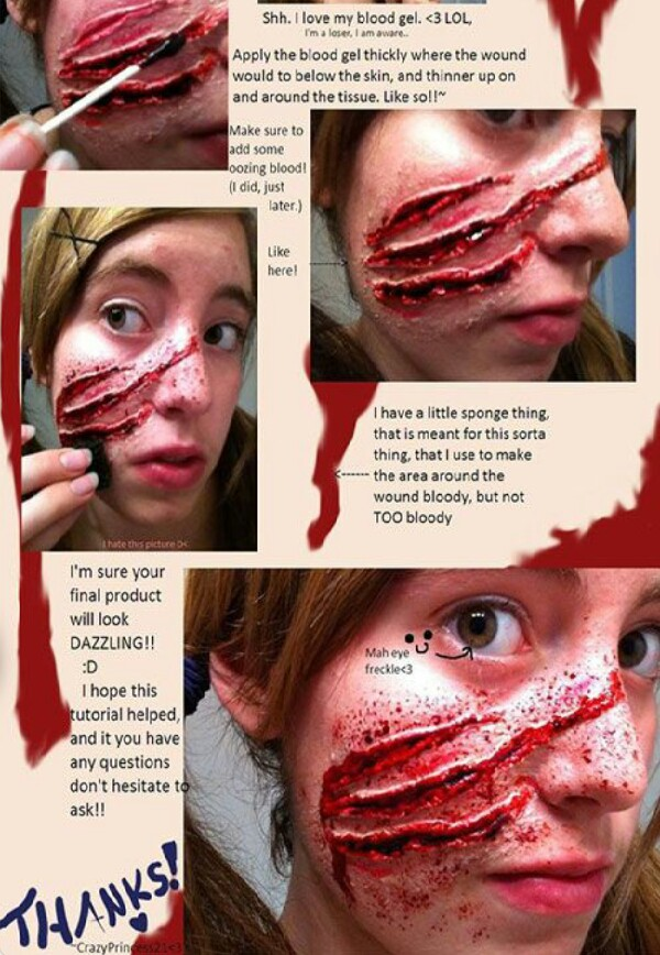 diy halloween scar make up tutorial