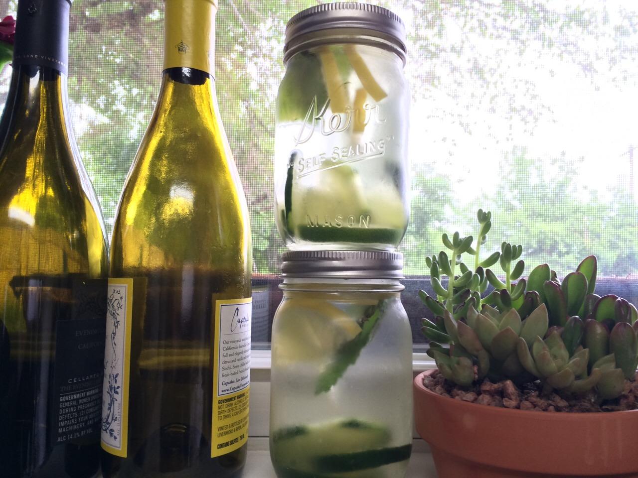Cucumber, Lemon & Fresh Mint infused water