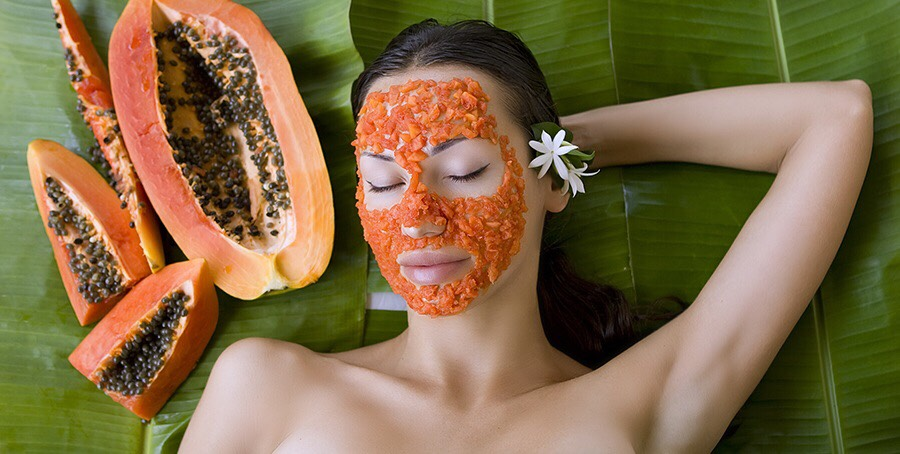 6. Papaya, Sandalwood, And Honey  	•	Now, you take a ripe papaya and chop it into several small pieces. 	•	Then you combine the chopped papaya with 1 teaspoon of honey and 1 teaspoon of sandalwood powder. 	•	You grind them into a thick paste. 	•	Now, you rub this paste directly all over your skin and wait for 25 to 30 minutes. 	•	Use cool water to rinse off and pat dry. 	•	Finally, you apply a little rose water on the skin. 	•	Keep applying this way once per week to notice an amazing change in your skin.