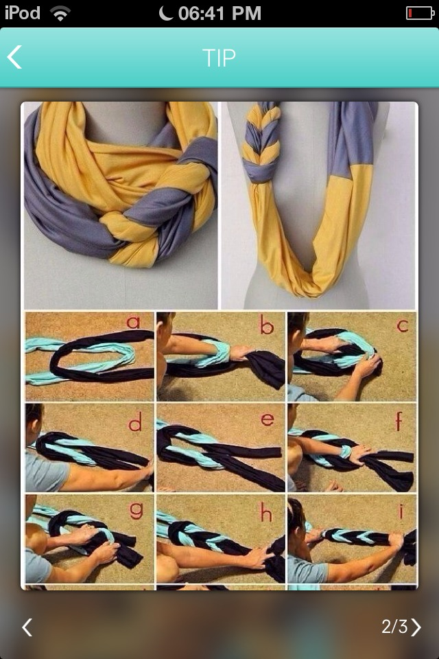 This great idea is so easy and makes a beautiful scarf! 🌸👌🌍