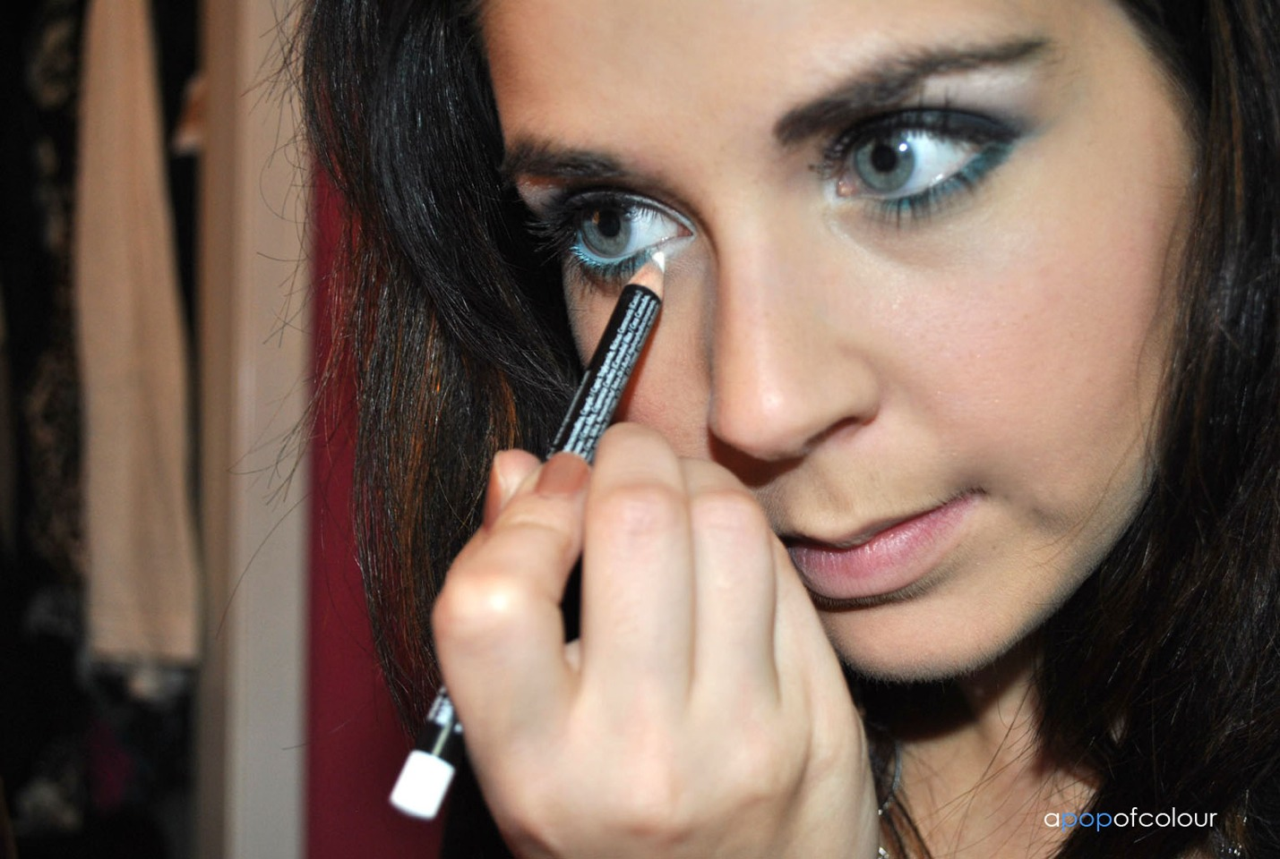Use white eye liner on your bottom water line for an illusion of bigger eyes!