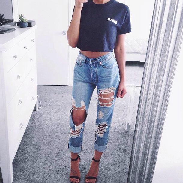 This I just a personal opinion, but I'm I LOVE with boyfriend jeans. They're comfy and loose, and I love the look of them. I think everyone should have a good pair of these in their closet.