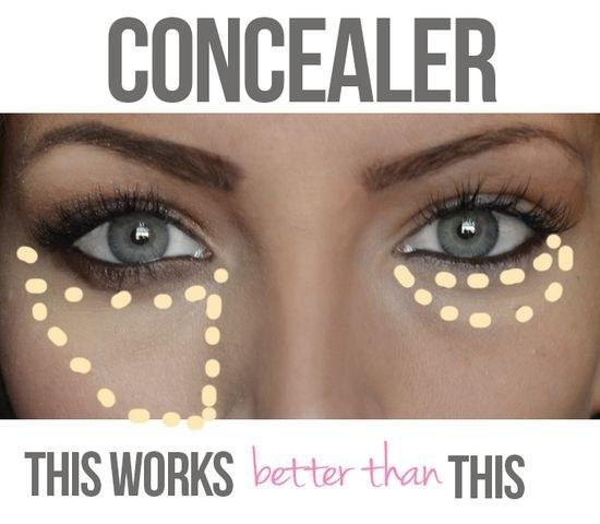 24. An easy way to look less tired? Use your concealer correctly.