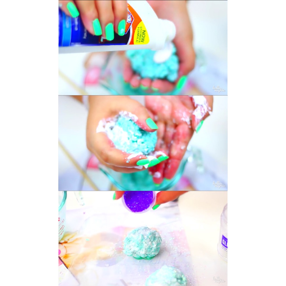 7. add a bit more glue for crystals to hold shape  8. mold glue into crystals  9. add glitter & let dry :)