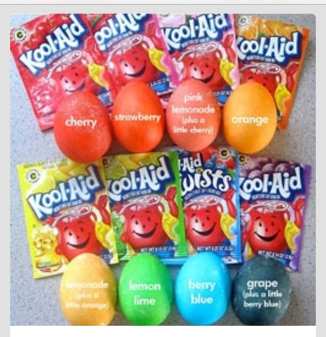 Koolaid packets are way cheaper than buying an Easter dye kit!