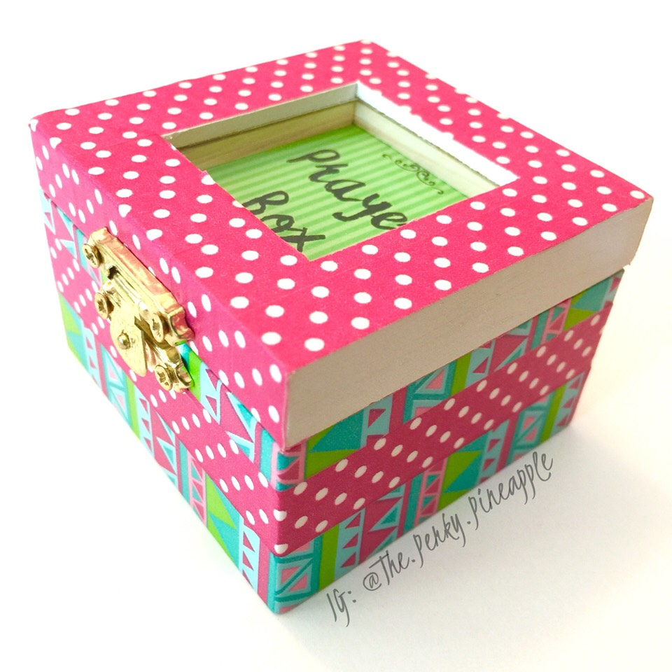 You can find these boxes on Etsy. Made by the shop: The Perky Pineapple  https://www.etsy.com/listing/281010920/hot-pink-lime-green-mini-wooden-prayer?ref=shop_home_active_22  I hope you enjoyed this post! :)