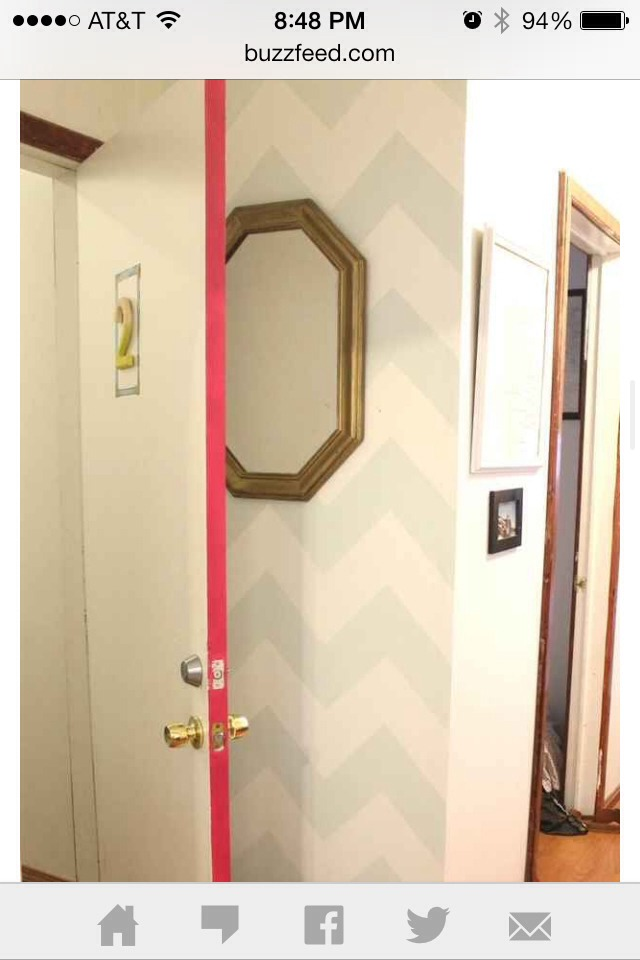 For a simpler look, paint the side of the door with a pop of color. Easy and simple, but very effective!