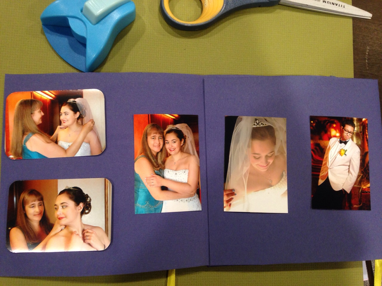 Cut out your personalized photos and glue onto your card.