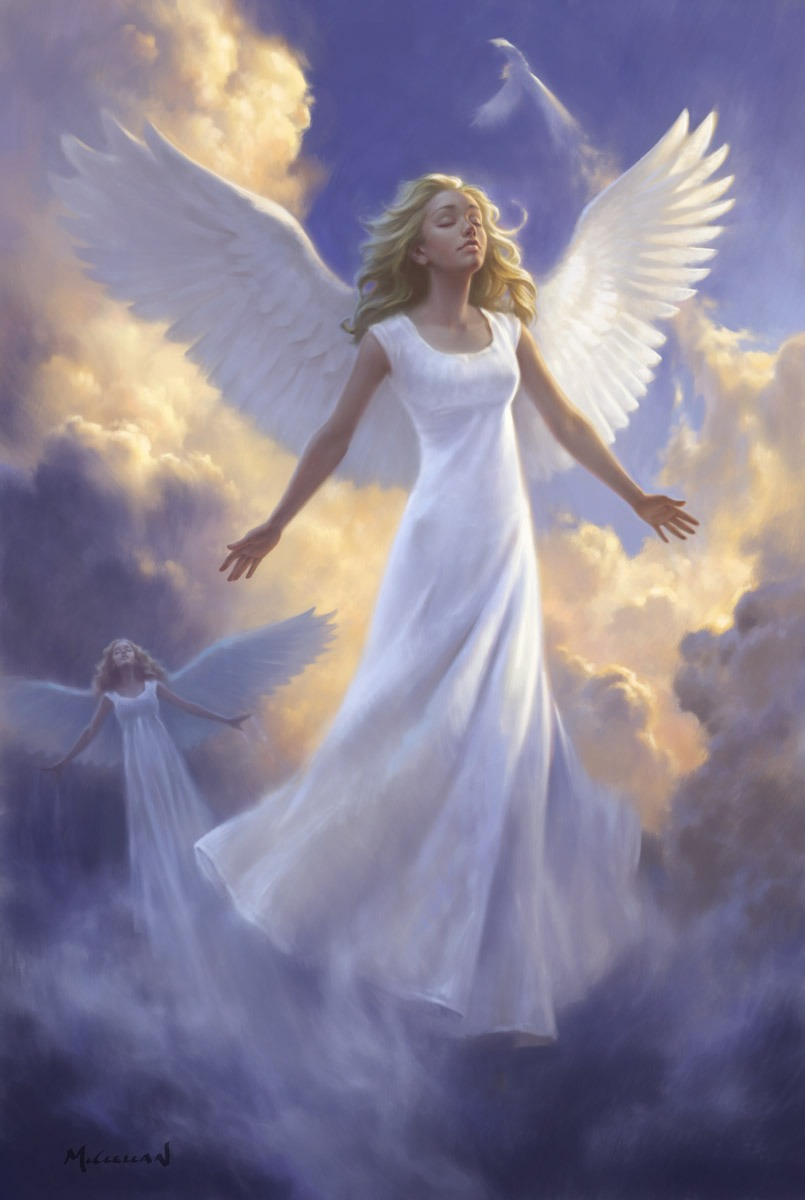 Angel, all you need is a white dress,and wings