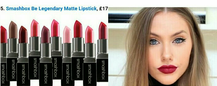 Smashbox Be Legendary Matte Lipstick, 18 shades and long lasting .  Example by Stephanie Bailey (subscribe in YouTube) with the shade Jam On It .