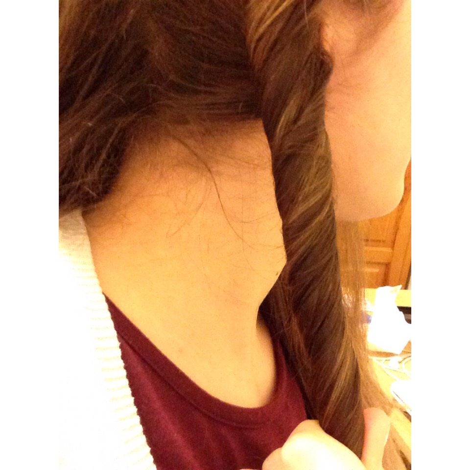 5. Continue twisting until you reach the end of the hair. It should look something like this ^