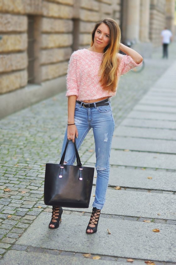 Pink Fluffy Blouse