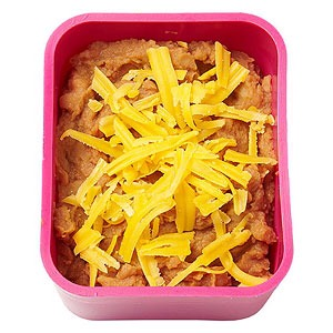 Marcela Valladolid Mom of Fausto, 8, and host of Food Network's Mexican Made Easy  DIY tostada: shredded chicken, cheddar cheese and refried beans, and 2 corn tortillas