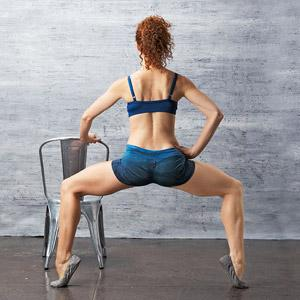 Trim It: Second-Position Pulse Targets glutei maximus, medius, and minimus, and legs