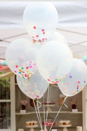 Funnel Confetti into balloons before blowing them up! Enjoy!