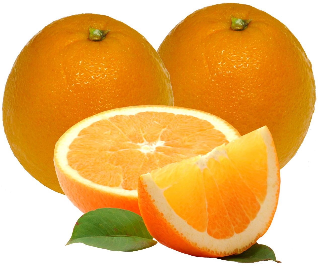 ORANGES are rich and delicious source of vitamin C , potassium, folic acid, soluble fibre. Weather it's navel oranges or the cute, little mandarin oranges, enjoy them on their own or mixed with other fruits.