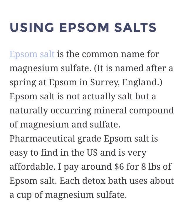 Epsom Salt = Magnesium Sulfate