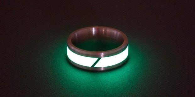 Glow in the Dark Carbon Fiber Rings