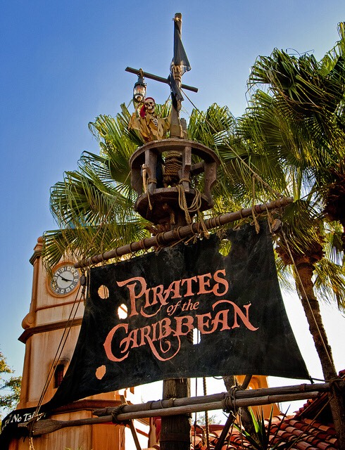 Pirates of the Caribbean Set sail on a swashbuckling voyage to a long-forgotten time and place when pirates and privateers ruled the seas.  Height: Any FP+: Yes