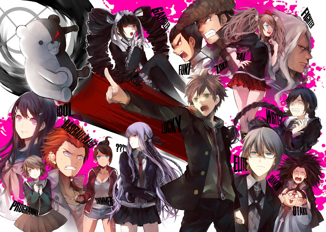 Danganronpa  Another wonderful thriller that is bound to keep you at the edge of your seat. Shocking plot twists, betrayals and being trapped inside of a school, what better way to keep an audience engaged? Personally, I would rather watch the game walk through on YouTube or read it on anime forum