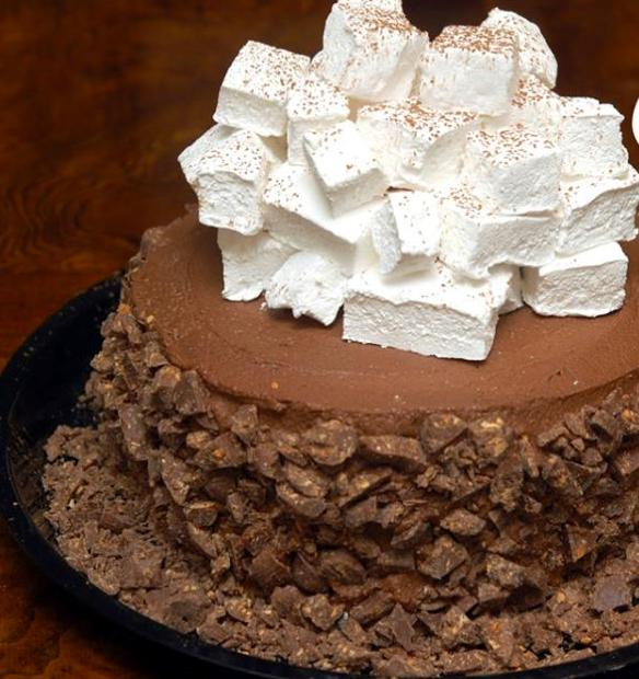 """NO, IT'S NOT REALLY HOT BUT RATHER, RESEMBLES HOT CHOCOLATE WITH THE PILED UP HOMEMADE MARSHMALLOWS ON TOP!  IT'S EVEN GLUTEN FREE!!!See my tip """"How to make marshmallow"""""""