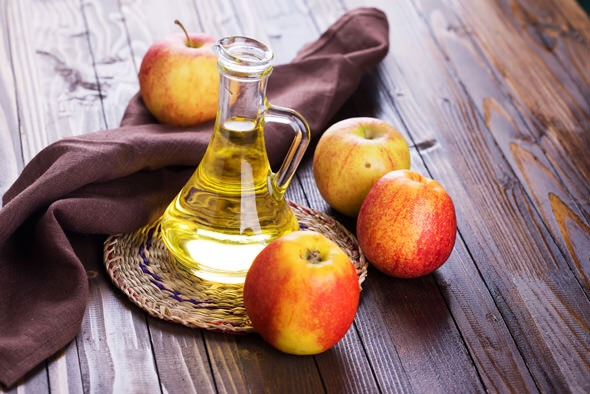 2. Apple cider Vinegar   	•	You just dilute apple cider vinegar well with water and then use this water to rub on the skin. This solution will eliminate dead cells and also revitalize the skin. 	•	Besides, you should consume the apple cider vinegar (about 2 teaspoons) along with a cup of water to keep skin problems and diseases at bay.