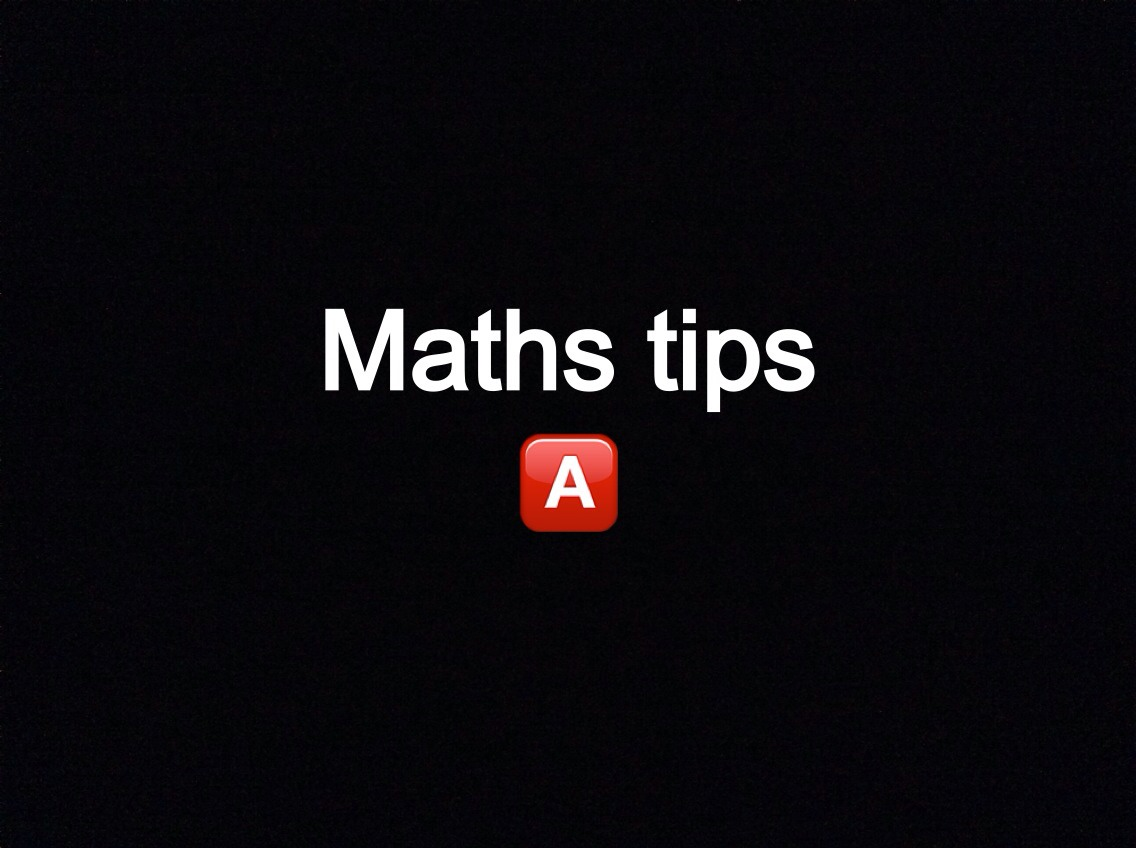 Recently I've been helping out GCSE students and have put together a few useful tips for you all :)