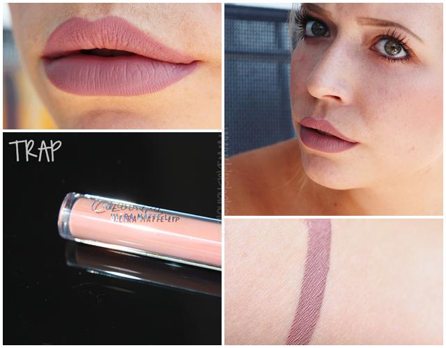 And my personal favorite liquid lipstick shade is Colorpops 'trap' a beautiful muted purple, grey, beige colour.