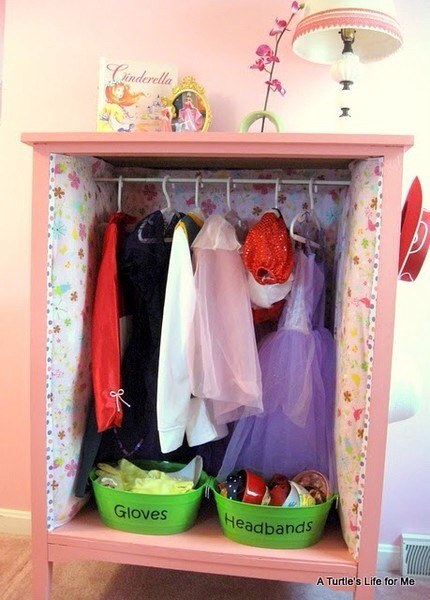 Use it as a closet for dress up clothes!