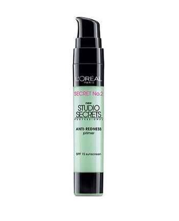 21. L'Oréal Studio Secrets Anti-Redness Primer: The green helps color-correct redness and blemishes, and acts as an even base so that your concealer stays put on top of it.