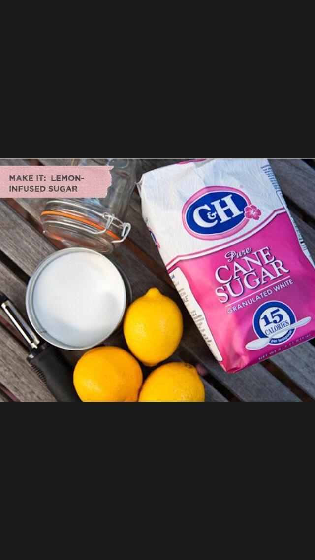 Sugar + Water + Lemon