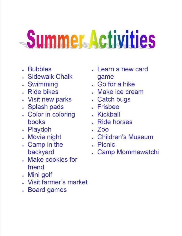 my family and favorite summer time activity Find and save ideas about kids summer activities on pinterest  perfect summer activity for a family with  these are summer crafts for kids my favorite is the.